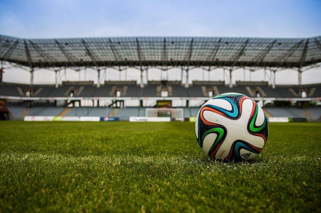 football, ball, stadium